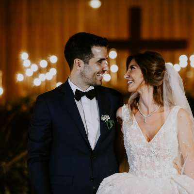A Sparkling Golden Wedding in Lebanon