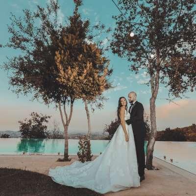 حفل زفاف طوني وكريستيل الريفي في لبنان