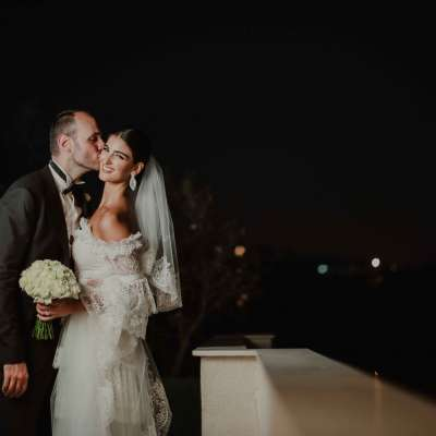 A Modern Blue and Metallics Wedding in Lebanon