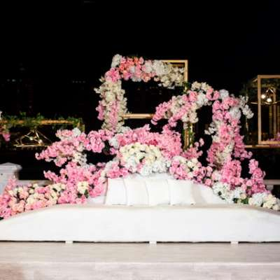 An All Pink Wedding in Qatar