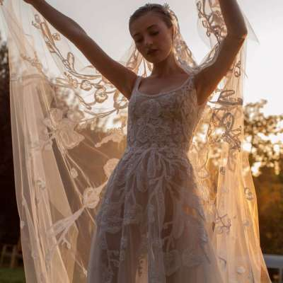 فساتين زفاف جورج حبيقة لخريف وشتاء 2021