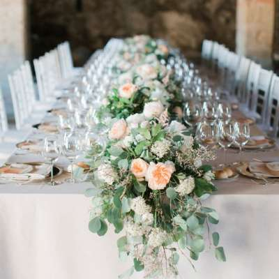Beautiful Flower Table Runners As Wedding Centerpieces