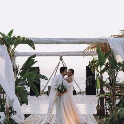 Nadia and Ibrahim's Beach Wedding in Lebanon