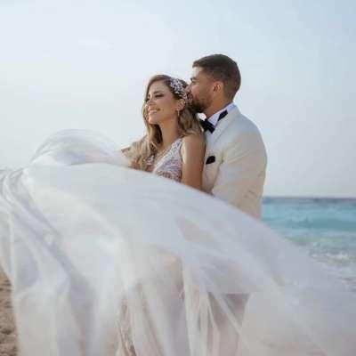 A Fun Color Block Wedding in Egypt