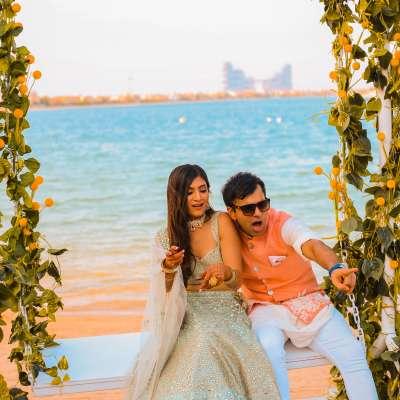 حفل زفاف هندي ممتع ومليء بالألوان في دبي