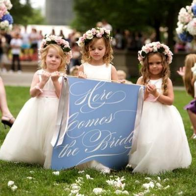 Section on Flower Girls fashion and wedding etiquette