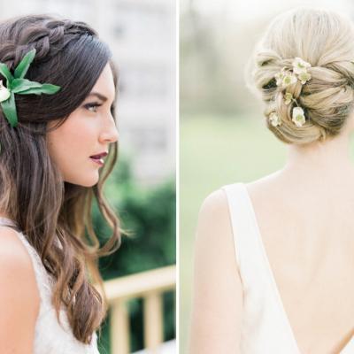 تسريحات عروس حسب طول الشعر