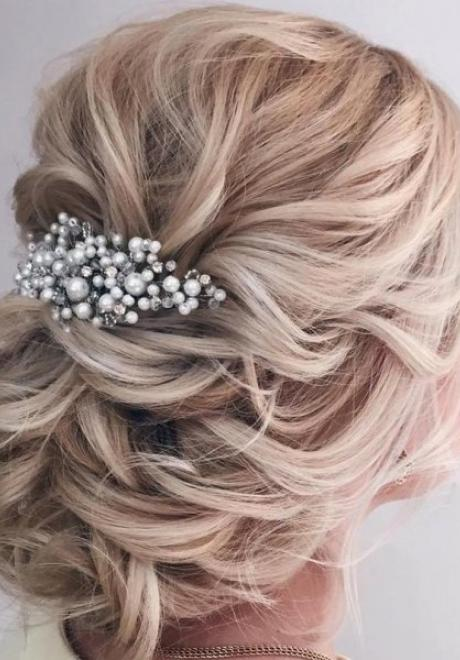 Beautiful Wavy and Curly Bridal Hairstyles