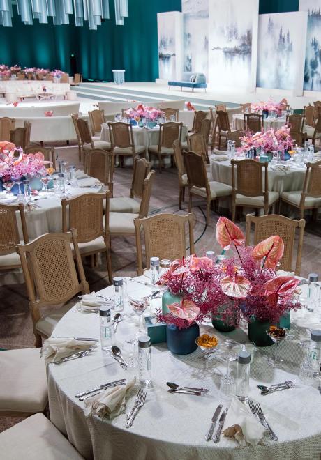 حفل زفاف مستوحى من الشرق الأقصى في دبي