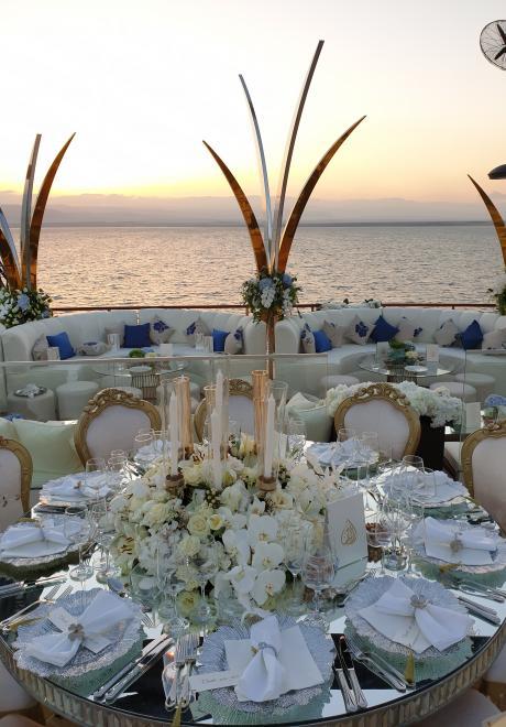 Shades of Blue Wedding at Jordan's Dead Sea
