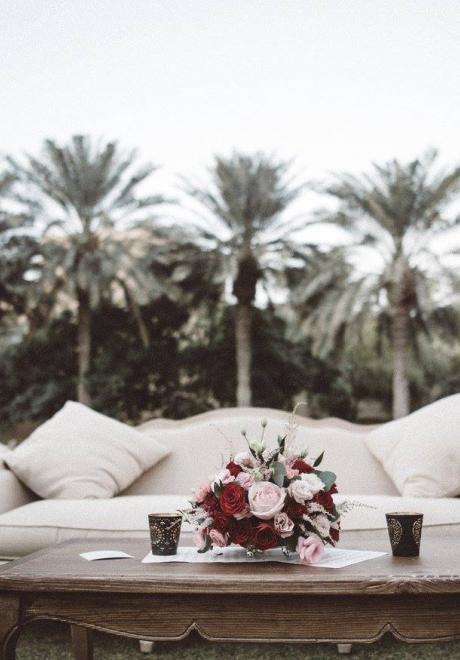 أجمل كوشات اعراس من تصميم منظمي حفلات الزفاف العرب