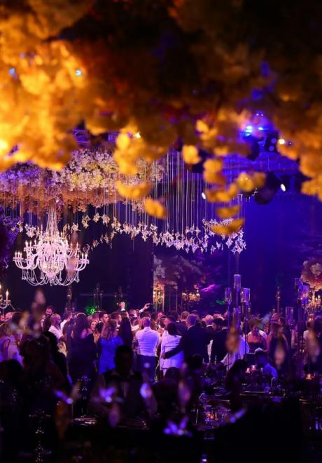 حفل زفاف بثيم فصل الخريف في لبنان