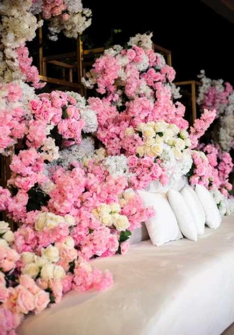 An All Pink Wedding in Qatar