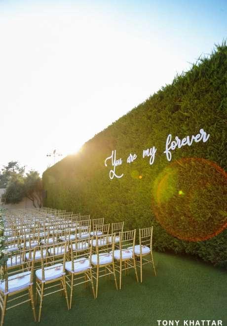 حفل زفاف بثيم القواعد الأساسية للحب في لبنان