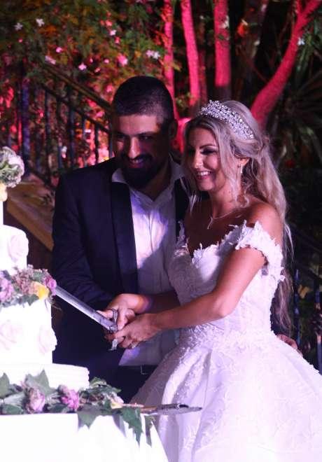 حفل زفاف جويس ورالف في لبنان