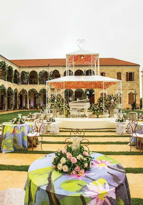 A Floral Garden Wedding in Lebanon