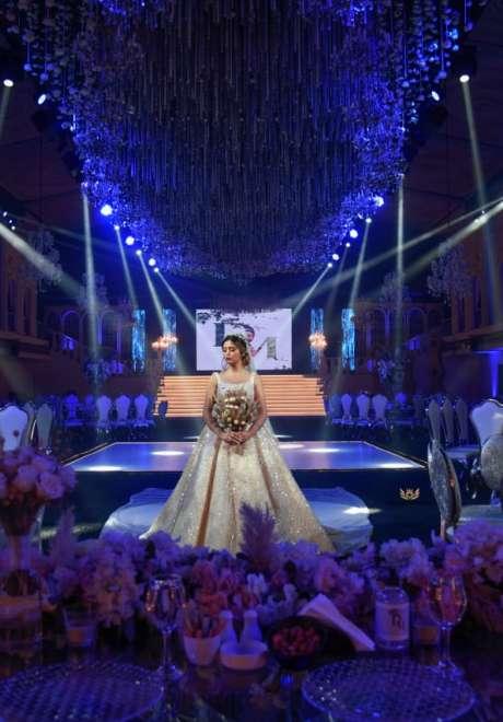حفل زفاف رومانسي كلاسيكي في لبنان