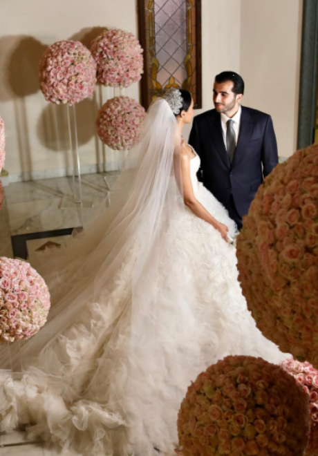 حفل زفاف سحري لسيرينا الساحلي ومحمد في لبنان