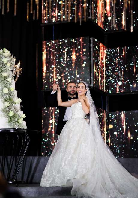 ليلة زفاف متلألئة في لبنان