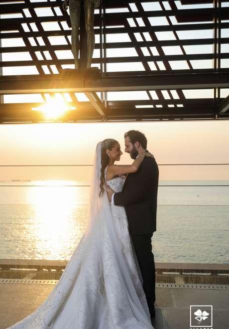 حفل زفاف رومانسي فاخر في لبنان