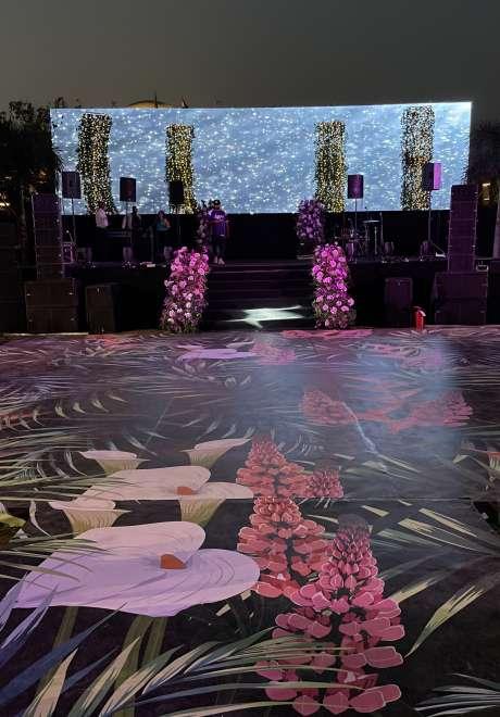 حفل زفاف بثيم حديقة الأزهار في مصر