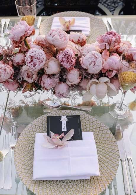 An All Pink Alfresco Wedding in Jordan