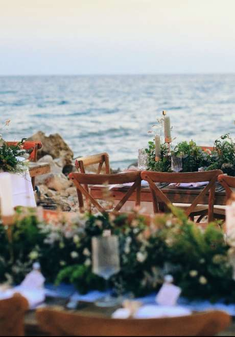 حفل زفاف نادية وإبراهيم على الشاطئ في لبنان