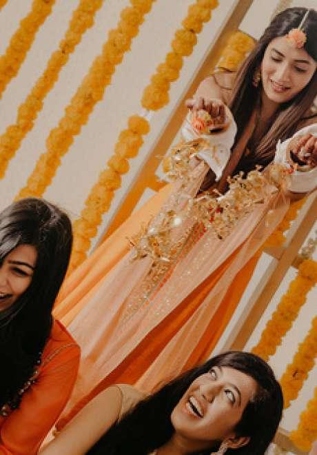A Fun Colorful Indian Wedding in Dubai