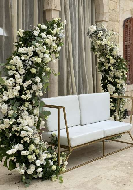 حفل زفاف بثيم تدرجات اللون الوردي في لبنان