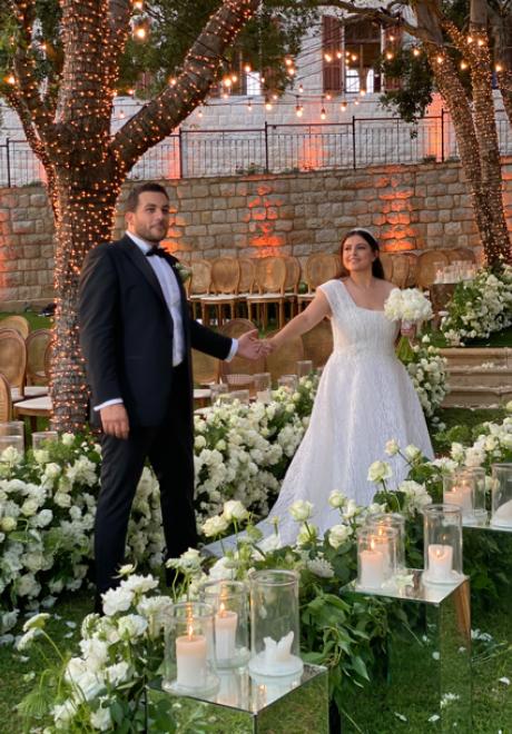 A Rose Ombre Wedding in Lebanon