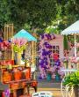 حفل زفاف بثيم سوق الأزهار من تنظيم روبرت هيكل