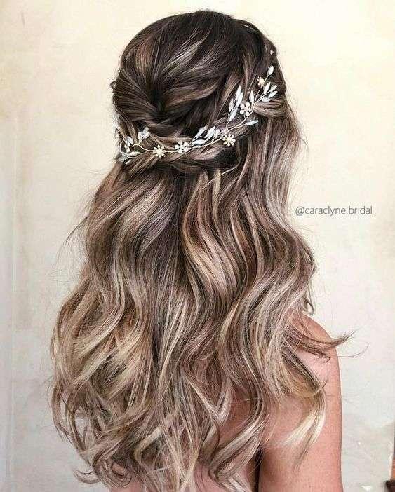 Long Bridal Hairstyles Arabia Weddings