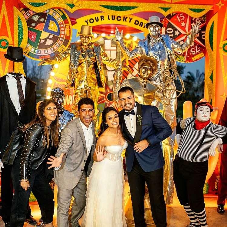 A Fun Carnival Wedding in Egypt