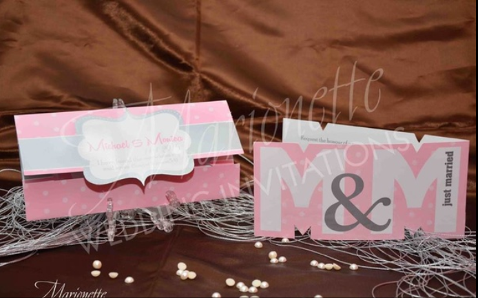 Marionette Wedding Invitations - Egypt