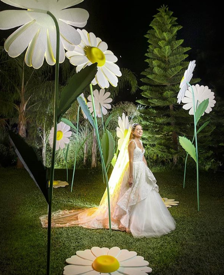 Ghada Blanco Daisy Wedding in Lebanon