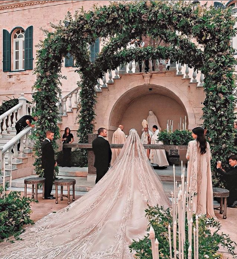 Elie Saab and Kika Wedding