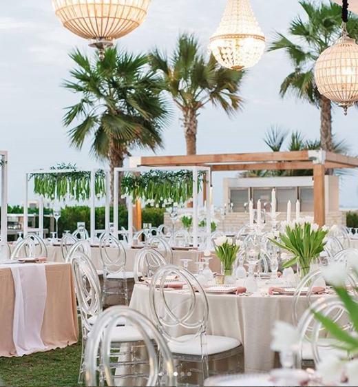 الكرسي البنفسجي لتنظيم حفلات الزفاف