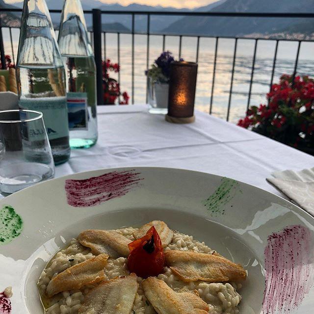 Risotto with Pesce Persico at Lake Como