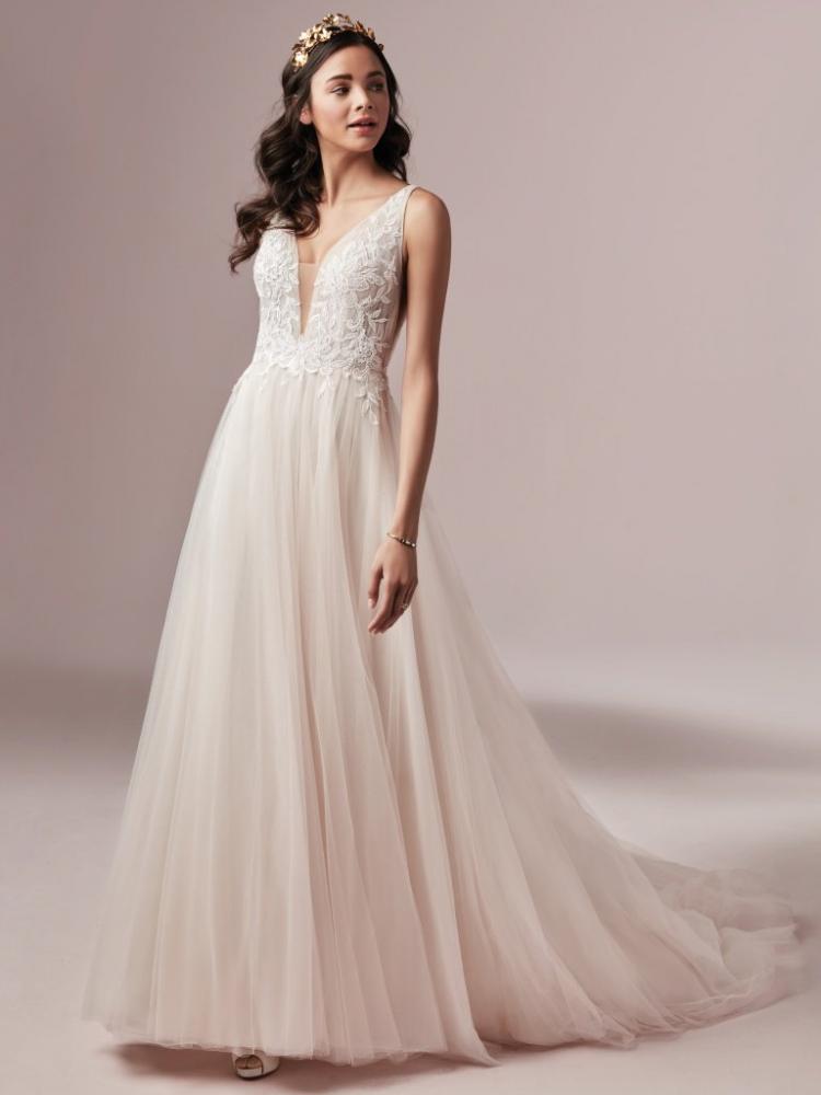 A-line Rebecca Ingram Wedding Dress