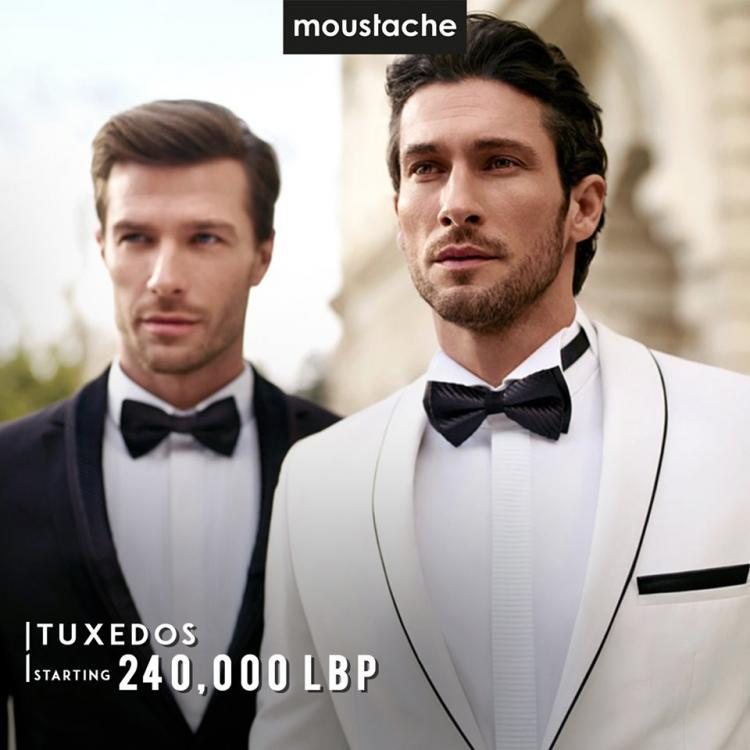 Moustache mens suits