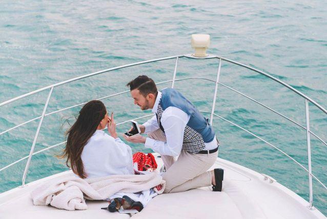 A Yacht Marriage Proposal
