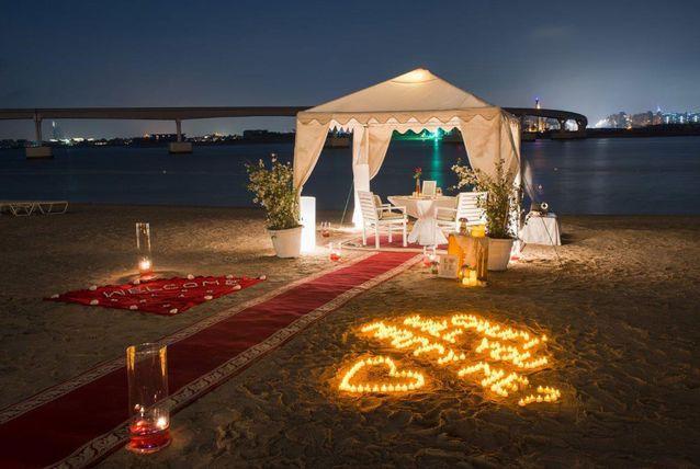 طلب زواج على الشاطئ
