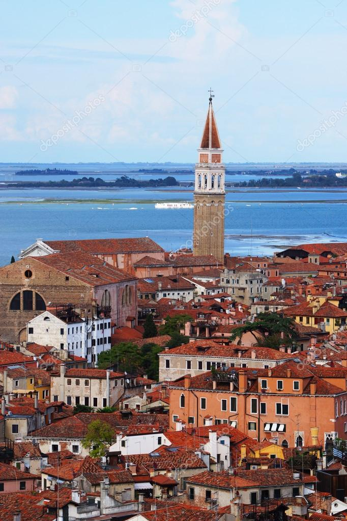 The view of Venice from Bell Tower