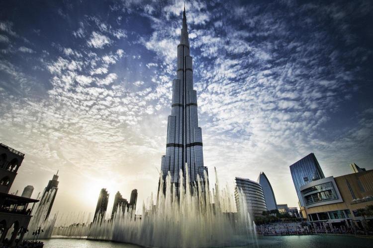 على قمة برج خليفة