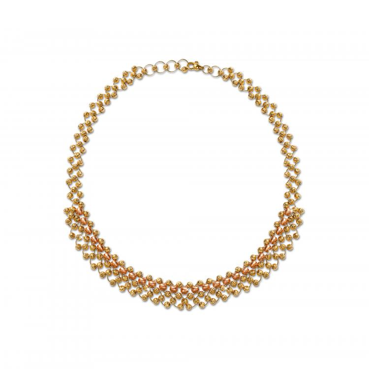 Gold necklace by Liali