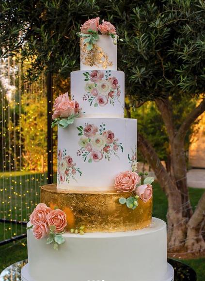 Shabby Chic Wedding Cake