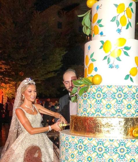 كيكة زفاف من وحي الليمون