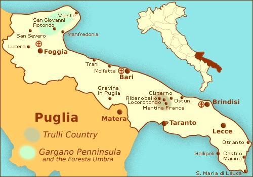 Map of Puglia
